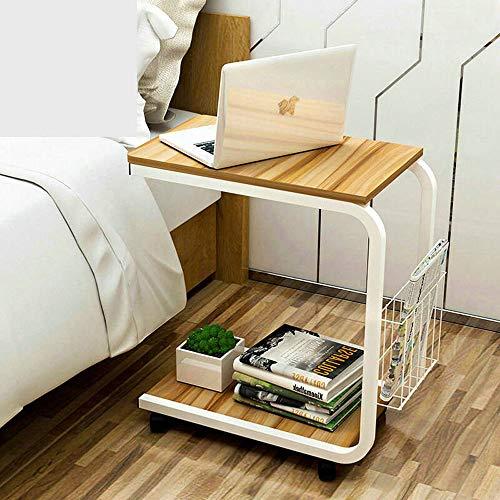 HALODN Sofa Table Side Kaffee Snack Ablagetisch Mit Rädern Für Zuhause, Wohnzimmer, Büro-51 * 30 * 56Cm,A