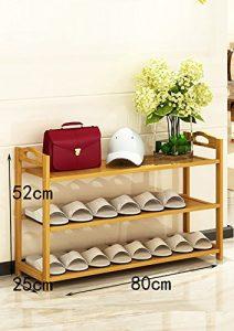 JJXJ Nanzhu Schuhständer Einfache, mehrstöckige Regale staubdichte Haushaltregale Einfache moderne Montage Schuhschrank Schuhregal ( Farbe : A , größe : 80cm )