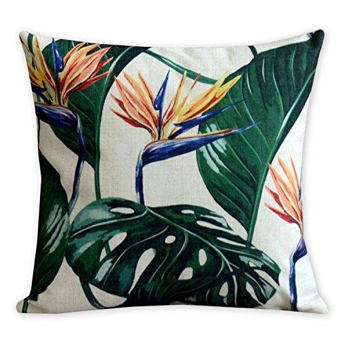 American Kissen Flamingos und Palm Leaf Modern Art Baumwolle Leinen Kissenbezüge Kissen Dekorative Kissen Home Decor Sofa werfen Kissenbezug 45x 45cm