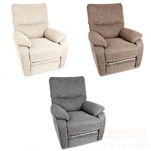 Relax – Fernsehsessel TV Sessel verstellbar Relaxsessel Liegesessel (Beige)