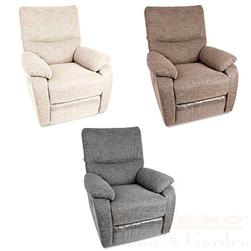 Relax - Fernsehsessel TV Sessel verstellbar Relaxsessel Liegesessel (Beige)