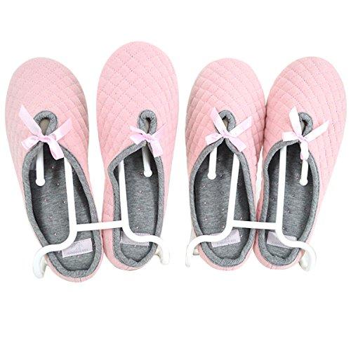 Meliya 2Pcs Multifunktions-Schuhregale Kunststoff Kinder Kids Schuhe hängende Aufbewahrung Trocknen Rack Schuh Regal Ständer Organizer, plastik, weiß, Einheitsgröße