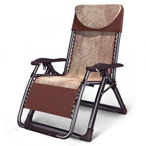 ZGL Relaxsessel & -Liegen Klapp Lounge Stuhl Widen Stuhl Mittagspause Couch Büro Klappstuhl Erwachsene Recliners Garten Klappstuhl Gartenstuhl (Farbe : Braun)