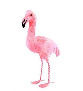 Flamingo Pink mit Federn 15cm. gefiedert Tischdekoration und Buffet und nicht nur. Hergestellt In Federn, Polystyrol und Eisen.
