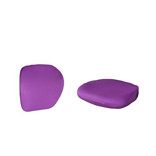 Fenteer Bezug für Bürostuhl - Husse für Bürodrehstuhl Drehstuhl Schreibtitschstuhl, Modern und Einfach - Lila