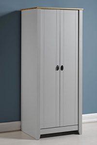 Seconique Ludlow-Kleiderschrank mit 2in Grau/Eiche