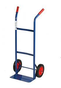 Archimede HT kg Tragkraft Trolley Doppel Griff 80cm, Metall, blau, 46x 35x 100cm