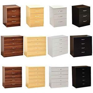 Home Discount weiß Kommode, 3Schubladen mit Metall Griffe & Läufer, Einzigartige anti-bowing Schublade Unterstützung, Riano Schlafzimmer Möbel