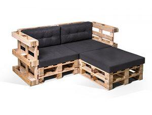 moebel-eins PALETTI Palettensofa Ecksofa 2-Sitzer Sofa Couch Lounge Gartenmöbel Natur