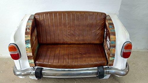 Indoortrend.com Autosofa Auto-Couch Möbel Sofa Sitzbank als 2 Sitzer Autoheck Car Metall TUK TUK