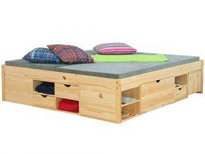 Doppelbett CLAAS Bettgestell Ehebett Rahmen Bett Schlafzimmer 140 x 200 Massiv