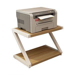 Zheng Hui Shop Kreatives Druckerzahnstangen-Doppeldesktop-Speicherzahnstangenhausmehrschichtgestell, weiß (Size : 44cm/17.3inch)