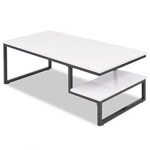 FZYHFA Couchtisch aus MDF + Stahl Sehr langlebig weiß 120x 60x 45cm Couchtisch Design