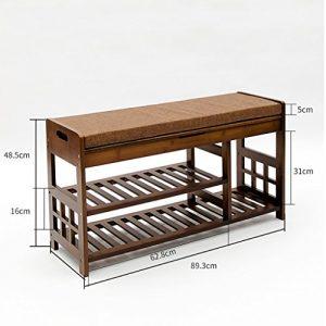 ZSHxj Natürliche Bambus für Den Schuh Hocker Einfache Sofa Hocker Haushalt Lagerung Schuhe Hocker Nanzhu Schuhschrank (Größe : 90cm)