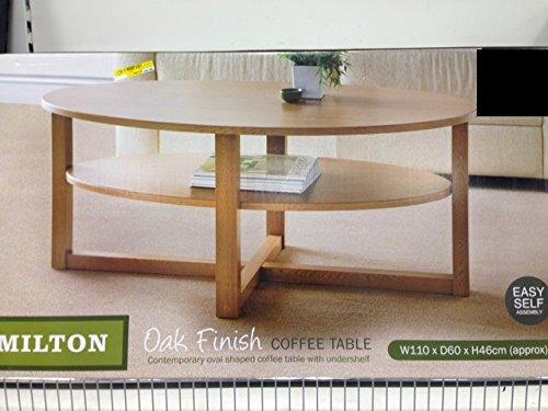 AJ 2Etagen Eiche Effekt groß Rund Wohnzimmer Tisch Aufbewahrung