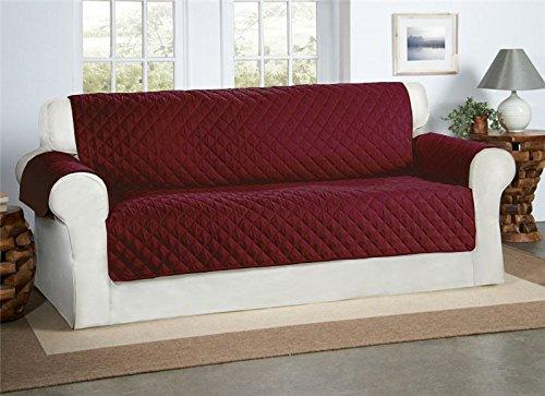 Safari Homeware Burgund/Wein 3-Sitzer Sofa Bezug Couchdeckel - Sofa Couch Gestepptes Möbelschutz