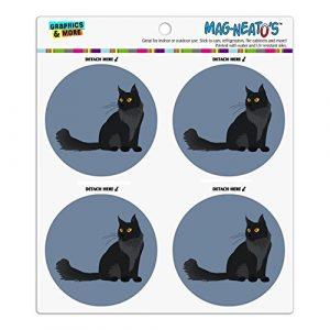 Maine Coon Katze Kühlschrank Kühlschrank Locker Vinyl Kreis Magnet-Set