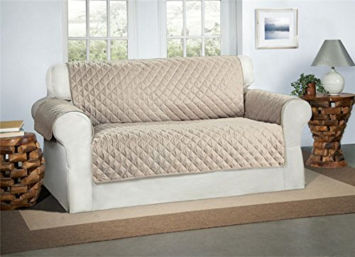 Safari Homeware Beige/Creme 2-Sitzer Sofa Bezug Couchdeckel - Sofa Couch Luxus Gestepptes Möbelschutz