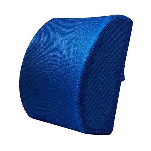 Lendenwirbelstütz-Kissen, geeignet für Büro-Stuhl, Rücken-Kissen  / Rückenstütz-Kissen blau