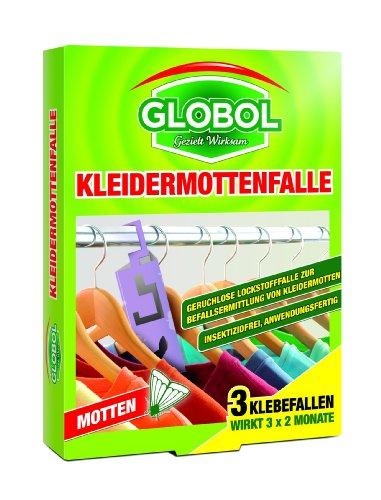 Globol 81855073 Kleidermottenfalle 3 x 6 g
