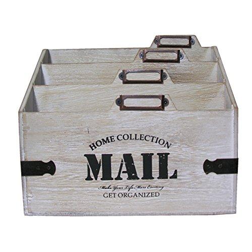 Stehsammler Briefablage Holz Schreibtisch Organizer Ablagebox Briefhalter Station