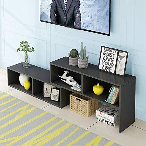 HALODN Massivholz-TV-Schrank, Nordic Simple Einziehbaren Couchtisch-Schrank, Kostenloser Kombinations Schrank/Möbel, Für Wohnzimmer, Schlafzimmer, Büro,B