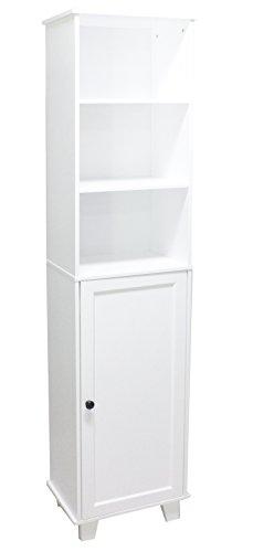Badezimmer Kommode weiß Hochschrank Bad Möbel Schrank Badezimmer Badschrank