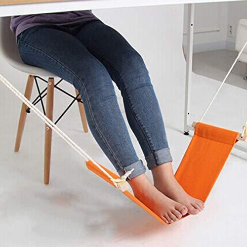 Footprintse Tragbare Neuheit Mini Indoor Outdoor Haushalt Büro Schreibtisch Fußstütze Stehen Verstellbare Schreibtisch Stuhl Füße Hängematte Zubehör-Farbe: Orange