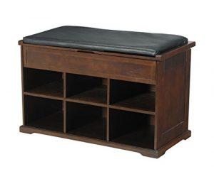 Frohe Produkte Holz Schuh Bank mit Kissen und Stauraum