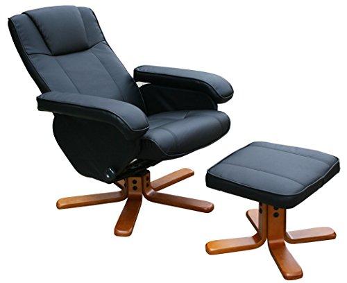 KMH, Fernsehsessel/Relaxsessel mit Fußhocker (Kunstlederbezug) (#204634)