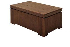 Gaspo Exquisite Gartentisch, Couchtisch, Tisch aus Hochwertigem Fichtenholz in schwarz braun, imprägniert, 94 x 54 x 40 cm, Holztisch, Wetterfest, Modernes und Zeitloses Design, Naturoptik, stilvoll