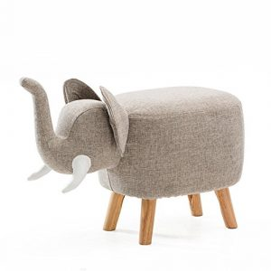 YIXINY Hocker Kreativer Tierstuhl Aus Gummi Holz + Stoff Holzhocker Fußhocker Soft Kissen Kinderhocker Sofa Hocker ( Farbe : 03 )