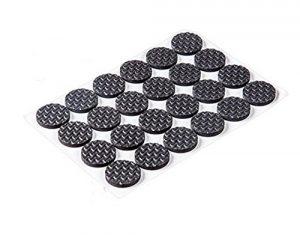 asentechuk® 3Tabelle Multifunktions Selbstklebende Anti-Rutsch Möbel Bein Tisch Sofa Stuhl Fuß Mat Anti Kratzschutz, metall, schwarz, Round 48cs