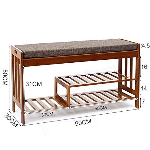 ZSHxj Natürliche Bambus für Den Schuh Hocker Einfache Sofa Hocker Haushalt Stuhl Hocker Nanzhu Schuhschrank