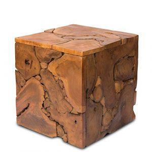 Nachttisch Beistelltisch Couchtisch Ablagetisch ca. 40×40 cm Mosaik Natur Holz