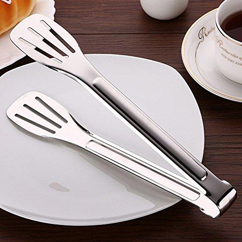 asentechuk® 3Edelstahl Anti-Rutsch Brot Grill Tong Kitchen Food Kochen Buffet Kuchen Cookie Servieren Tong Klemme