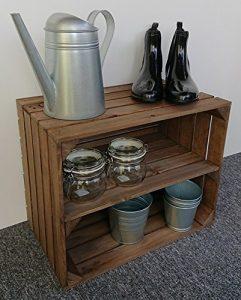 Jackpol Äpfelkiste aus Holz mit Langem Innenregal und Schuhregal