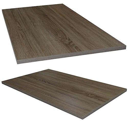 Tischplatte Trüffel Eiche stabile Holz Tisch-Platte 2,2 cm stark für Couchtisch Esstisch Schreibtisch rechteckig 105 x 60
