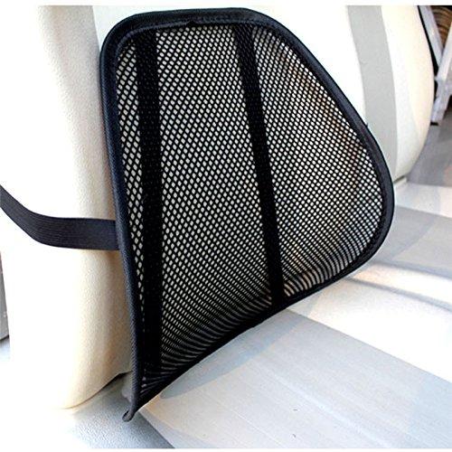 Hangang Hangng Lendenwirbelstütze für Auto Bürostuhl – Rücksitz Auto Lendenwirbelstütze Lendenwirbelstütze mit 3D-Bezug Equilibrata, Rückenschmerzen – Fördert Rückenschmerzen – Schwarz
