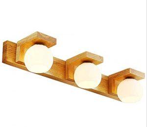 Nordic Log Wandleuchte, Holz-Kommode-Wand Lampe, Geeignet Für Umkleidetisch, Schlafzimmer, Wohnzimmer, Esszimmer, Coffee Shop, Waschraum, Bett (Drei Köpfe)