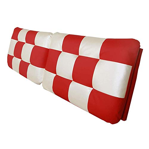 Uus Bedside Kissen Taillenauflage Unterstützung Lesen Abwischen Schöne PU, mit/ohne Kopfteil, 2 Farben, 4 Größen Pillow (Farbe : B with Headboard, größe : 180x60x10cm)