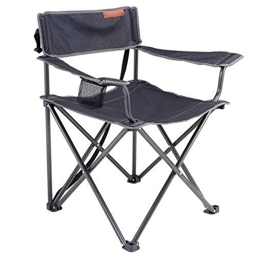 LiPengTaoShop Klappstuhl im Freien Klappstuhl Camping tragbaren Stuhl Freizeit Picknick Hocker A++ (Color : Gray)