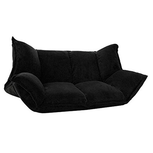 Liegen MAZHONG Mode Paar Dual-use-Boden Sofa Klapp Kreative Einzel Doppel Sofa Stuhl Balkon Schöne Faule Sofa (Farbe : Schwarz)