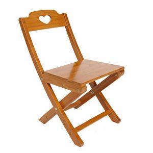LiPengTaoShop Klappstuhl Bambus Stuhl Kind zurück Stuhl kindersitz bequemer klappstuhl A++ (Color : Brown, Size : 55 * 33 * 31cm)