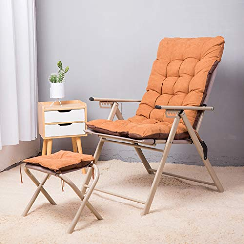 LiPengTaoShop Klappstuhl Klappsitz Büro faul Sitz Stuhl Mittagspause Sofa Stuhl A++ (Color : Yellow)