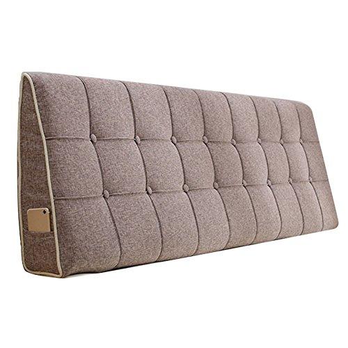 WENZHE Kopfteil Kissen Bett Rückenkissen Rückenlehne Stoff Kissen Softcase Waschbar Einfach zu säubern Atmungsaktiv Nicht deformiert, 7 Farben (Farbe : 5#, größe : 200x50cm)
