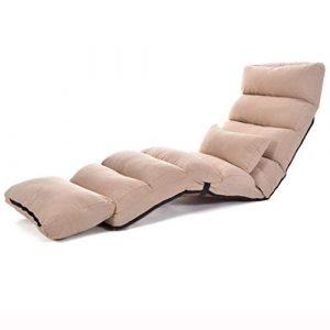 LRSF Sofa Faule Couch, klappstuhl schiene Stuhl Freizeit Sofa Stuhl Schlafzimmer schlafsaal Stuhl (Zwei Farben) Home (Farbe : A)