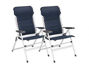 2er Set stabile XXL Campingstühle gepolstert – klappbar & leicht – Relaxsessel mit Komfort