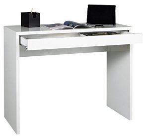 Avanti Trendstore – Schreibtisch mit 1 Schubkasten in weiß Dekor, ca. 100x80x40 cm