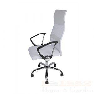 Bürostuhl MESH weiß – Drehstuhl Schreibtischstuhl Chefsessel Bürosessel Stuhl
